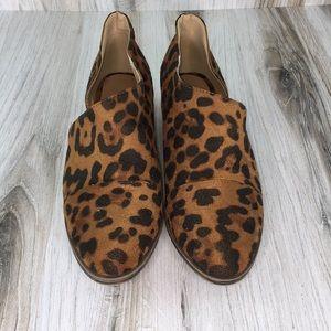 Leopard Side Cut Out Flat Shoes